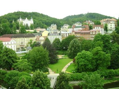 Panoramic view of Karlovy Vary