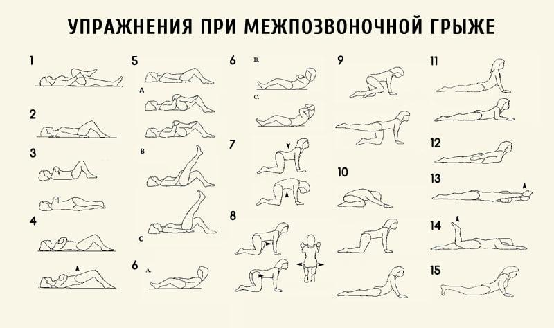 Упражнения с картинками при грыже позвоночника 8