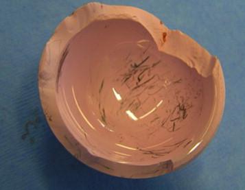 Разрушение керамики.