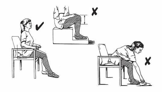 Как сидеть после эндопротезирования тазобедренного сустава